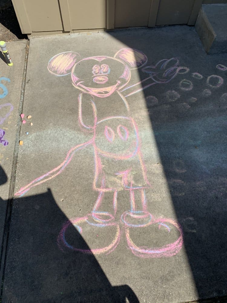 Mickey Mouse Chalk Drawing